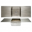 Rocky Mountain Hardware<br />SK565 - Basin Sink - Double Drainboard