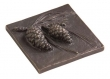 Rocky Mountain Hardware<br />TT216 - ROCKY MOUNTAIN PINECONE TILE 4&quot; x 4&quot;