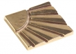Rocky Mountain Hardware<br />TT245 - ROCKY MOUNTAIN QUARTER SUN TILE -GT
