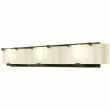 Rocky Mountain Hardware<br />V445-LED - Triple Plank Vanity - Corrugated Glass with LED Lamps 8&quot; x 60&quot; x 5 3/8&quot;