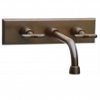 Rocky Mountain Hardware<br />WMF/E465 - WALL MOUNT FAUCET WITH E465 RECTANGULAR ESCUTCHEON
