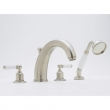 Rohl Faucets<br />U.3248L - ROHL 4-HOLE BATHTUB FILLER WITH HANDSHOWER AND LEVER HANDLES U.3248L