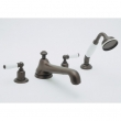 Rohl Faucets<br />U.3737L - ROHL FOUR HOLE DECK MOUNTED TUB SHOWER SET WITH LOW LEVEL SPOUT AND LEVER HANDLES U.3737L