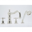 Rohl Faucets<br />U.3746X - ROHL FOUR HOLE DECK MOUNTED TUB SHOWER SET WITH COUNTRY SPOUT AND CROSS HANDLES U.3746X