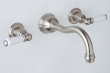 Rohl Faucets<br />U.3790L - ROHL COLUMN SPOUT WALL MOUNTED LAV FAUCET WITH PORCELAIN LEVER HANDLES U.3790L