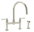 Rohl Faucets<br />U.4273LS - ROHL CONTEMPORARY BRIDGE KITCHEN FAUCET WITH LEVER HANDLES AND SIDESPRAY U.4273LS