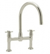 Rohl Faucets<br />U.4292X - ROHL CONTEMPORARY BRIDGE KITCHEN FAUCET WITH CROSS HANDLES U.4292X