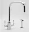 Rohl Faucets<br />U.4310LS - ROHL CONTEMPORARY SINGLE HOLE U-SPOUT KITCHEN FAUCET WITH SIDESPRAY U.4310LS