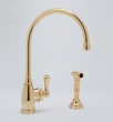 Rohl Faucets<br />U.4702 - ROHL SINGLE LEVER SINGLE HOLE KITCHEN MIXER WITH SIDESPRAY U.4702
