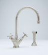 Rohl Faucets<br />U.4707X - ROHL SINGLE LEVER SINGLE HOLE KITCHEN MIXER WITH SIDESPRAY U.4707X
