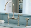 Rohl Faucets<br />U.4719L - ROHL BRIDGE KITCHEN FAUCET WITH LEVER HANDLES AND SIDESPRAY U.4719L