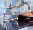 Rohl Faucets<br />U.4750X - ROHL BRIDGE KITCHEN FAUCET WITH CROSS HANDLES U.4750X