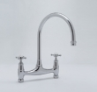 Rohl Faucets<br />U.4790X - ROHL BRIDGE KITCHEN FAUCET WITH CROSS HANDLES- WALL OR DECK UNIONS NOT INCLUDED U.4790X