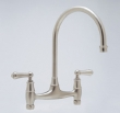 Rohl Faucets<br />U.4791L - ROHL BRIDGE KITCHEN FAUCET WITH LEVER HANDLES- WALL OR DECK UNIONS NOT INCLUDED U.4791L