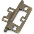 Schaub<br />1100B-ALB - Solid Brass, Hinge, Ball Tip Non-Mortise, Antique Light Brass finish
