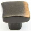 Schaub<br />765-AZ - Cast Bronze, Vinci, Square Knob, 1&quot; diameter, Antique Bronze finish