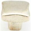 Schaub<br />765-PWB - Cast Bronze, Vinci, Square Knob, 1&quot; diameter, Polished White Brass finish