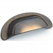 Schaub<br />775-AZ - Cast Bronze, Cast Bronze Mountain, Cup Pull, 3-1/2&quot;cc, Antique Bronze finish