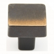 Schaub<br />789-AZ - Cast Bronze, Vinci, Square Knob, 1-1/4&quot; diameter, Antique Bronze finish