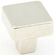 Schaub<br />789-PWB - Cast Bronze, Vinci, Square Knob, 1-1/4&quot; diameter, Polished White Bronze finish