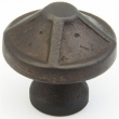 Schaub<br />820-DKBZ - Cast Bronze, Kelmscott Manor, Round Knob, 1-3/8&quot; diameter, Dark Bronze finish