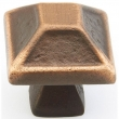 Schaub<br />821-AZ - Cast Bronze, Kelmscott Manor, Square Knob, 1-5/16&quot; diameter, Antique Bronze finish