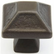 Schaub<br />821-DKBZ - Cast Bronze, Kelmscott Manor, Square Knob, 1-5/16&quot; diameter, Dark Bronze finish