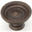 Schaub<br />921L-DG - Solid Brass, Symphony, Sunflower, Round Knob, 1-3/4&quot; dia, Dark Glaze finish