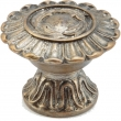 Schaub<br />937-MSL - Solid Brass, Symphony, Swans, Round Knob, 1-1/4&quot; diameter, Monticello Silver finish
