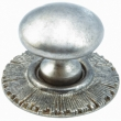 Schaub<br />970-SA - Solid Brass, Symphony, Sunburst, Round Knob w/Backplate, 1-1/4&quot; diameter, Silver Antique finish