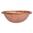 Thompson Traders - sinks<br />23-1220-A - OVAL MIRO SINK - POLISHED COPPER