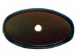 Top Knobs<br />M1443 - Aspen Oval Backplate 1 3/4&quot; - Mahogany Bronze