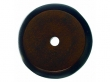 Top Knobs<br />M1463 - Aspen Round Backplate 1 1/4&quot; Mahogany Bronze