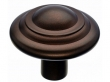 Top Knobs<br />M1478 - Aspen Button Knob 1 3/4&quot; - Mahogany Bronze