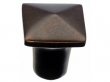 Top Knobs<br />M1508 - Aspen Square Knob 3/4&quot; - Mahogany Bronze