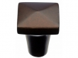Top Knobs<br />M1513 - Aspen Square Knob 7/8&quot; - Mahogany Bronze