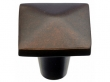 Top Knobs<br />M1518 - Aspen Square Knob 1 1/2&quot; - Mahogany Bronze