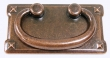 Top Knobs<br />M236 - Mission plate handle 3&quot; CC in Old English Copper