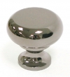Top Knobs<br />M272 - Flat faced round knob 1 1/4&quot; in Black Nickel