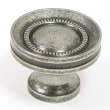 Top Knobs<br />M294 - Button faced knob 1 1/4&quot; in Antique Pewter