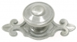 Top Knobs<br />M30 - Canterbury knob 1 1/4&quot; w/backplate in Pewter Light
