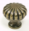 Top Knobs<br />M321 - Melon cut knob 1 1/4&quot; in German Bronze