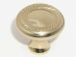 Top Knobs<br />M324 - Swirl cut knob 1 3/16&quot; in Polished Brass