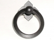 Top Knobs<br />M638 - Large Smooth Ring Pull w/backplate in Patine Black