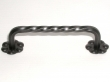 Top Knobs<br />M650 - Twist D Handle w/backplate in Patine Black