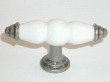 Top Knobs<br />M75 - T- handle in Antique Pewter &amp; White