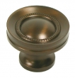 Top Knobs<br />M755 - Button Faced Knob 1 1/4&quot; in Oil Rubbed Bronze