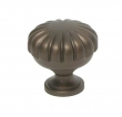 Top Knobs<br />M756 - Melon Cut Knob 1 1/4&quot; in Oil Rubbed Bronze