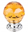 Top Knobs<br />TK111PC - Amber Crystal Knob 1 1/8 Inch