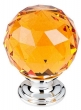 Top Knobs<br />TK112PC - Amber Crystal Knob 1 3/8 Inch